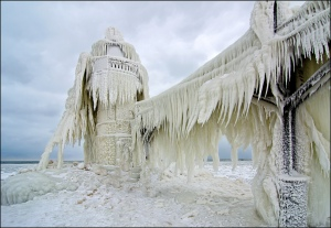 St.Joe Lighthouse,Frozen by Tom Gill