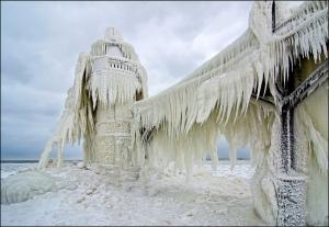 St.Joe Lighthouse,Frozen by Tom Gill